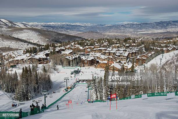 A view of the ski slopes at Deer Valley on day three of the 2016 Deer Valley Celebrity Skifest on December 4 2016 in Park City Utah