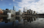 View of the skyline in the city of Seattle Washington state on March 22 2011 Seattle is the northernmost major city in the contiguous United States...