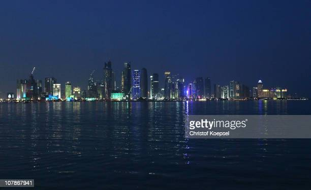 View of the skyline of the West Bay area in Doha is taken on January 4 2011 in Doha Qatar The International Monetary Fund recently reiterated its...