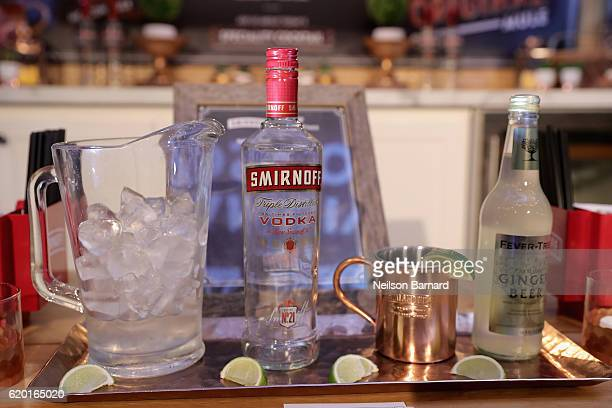 A view of the Smirnoff Moscow Mule on display during the 2016 New York Taste presented by Citi hosted by New York Magazine on November 1 2016 in New...
