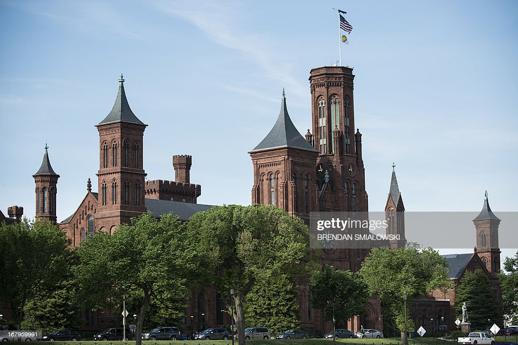 A view of the Smithsonian Castle, the headquarters for the Smithsonian Institution, May 3, 2013 in Washington, DC. AFP PHOTO/Brendan SMIALOWSKI