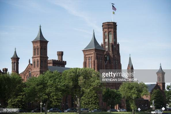 A view of the Smithsonian Castle the headquarters for the Smithsonian Institution May 3 2013 in Washington DC AFP PHOTO/Brendan SMIALOWSKI