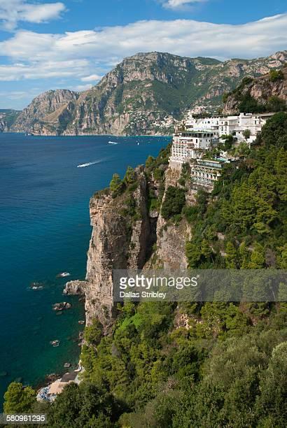 View of the spectacular Amalfi Coast near Positano