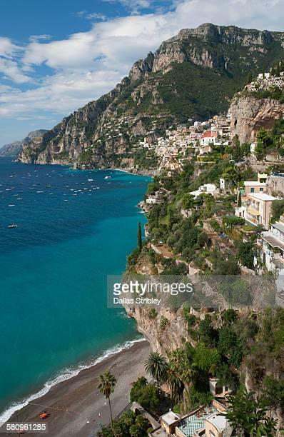 View of the spectacular coastline in Positano