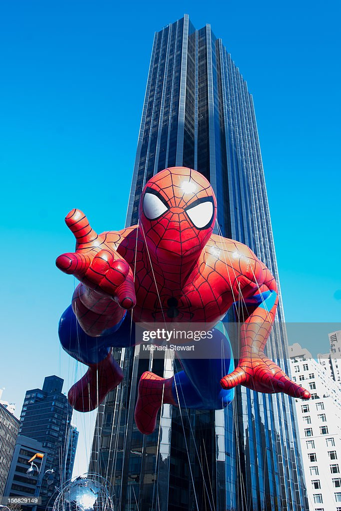 A view of the Spider Man float at the 86th Annual Macy's Thanksgiving Day Parade on November 22, 2012 in New York City.