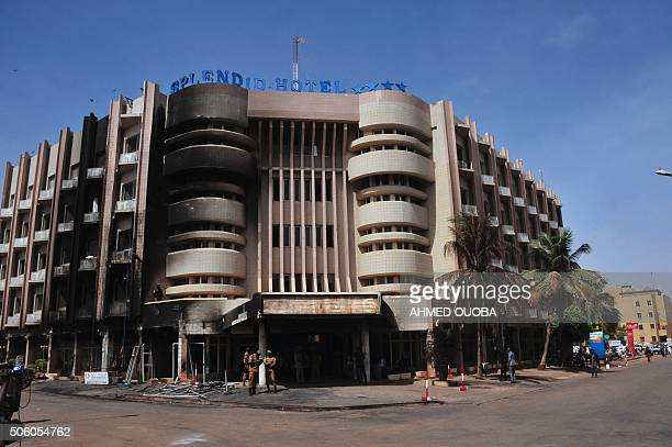 A view of the Splendid Hotel destroyed earlier this month by jihadists during an attack in Ouagadougou on January 21 2016 An attack on January 15...
