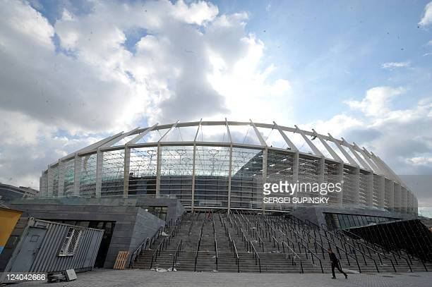 A view of the stadium being built for the UEFA Euro 2012 Championships in Kiev on September 8 2011 The stadium is one of several being built as...