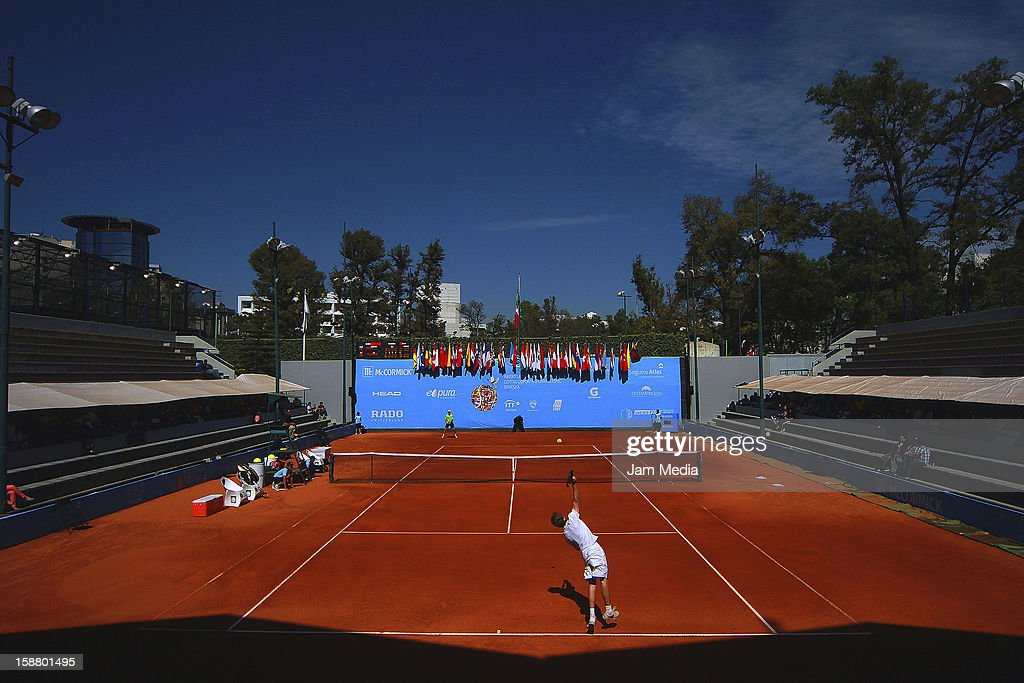 View of the stadium Deportivo Chapultepec during the Mexican Youth Tennis Open at Deportivo Chapultepec on December 28, 2012 in Mexico City, Mexico.