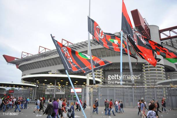 A view of the stadium during the Serie A match between AC Milan and Cagliari Calcio at Stadio Giuseppe Meazza on May 14 2011 in Milan Italy