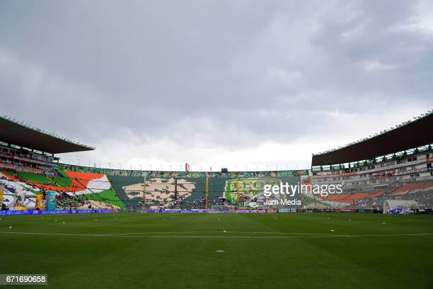 View of the Stadium prior the 15th round match between Leon and Puebla as part of the Torneo Clausura 2017 Liga MX at Nou Camp Stadium on April 22...