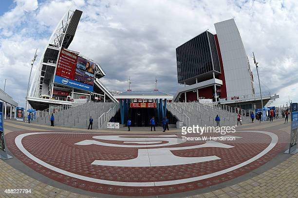 A view of the stadium prior to the NFL game between the San Francisco 49ers and the Minnesota Vikings at Levi's Stadium on September 14 2015 in Santa...