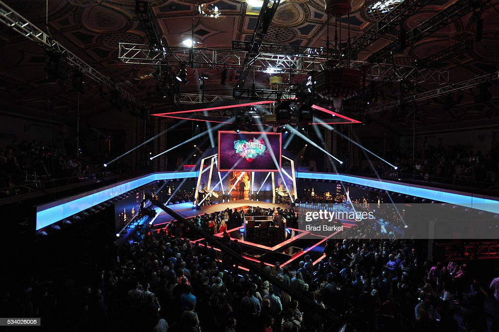 View of the stage at the 'Ink Master' season 7 LIVE finale on May 24, 2016 in New York City.