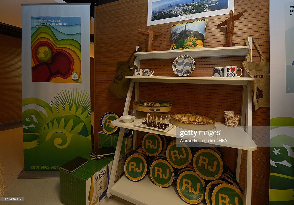 View of the stand of Rio de Janeiro city during a FIFA Media Briefing & 2014 Host City Event as part of the FIFA Confederations Cup Brazil 2013 at Maracana Stadium on June 24, 2013 in Rio de Janeiro, Brazil.
