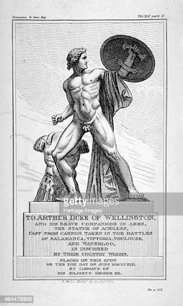 View of the statue of Achilles Hyde Park London 1822 The statue by Richard Westmacott was erected in the park in 1822 in honour of the Duke of...