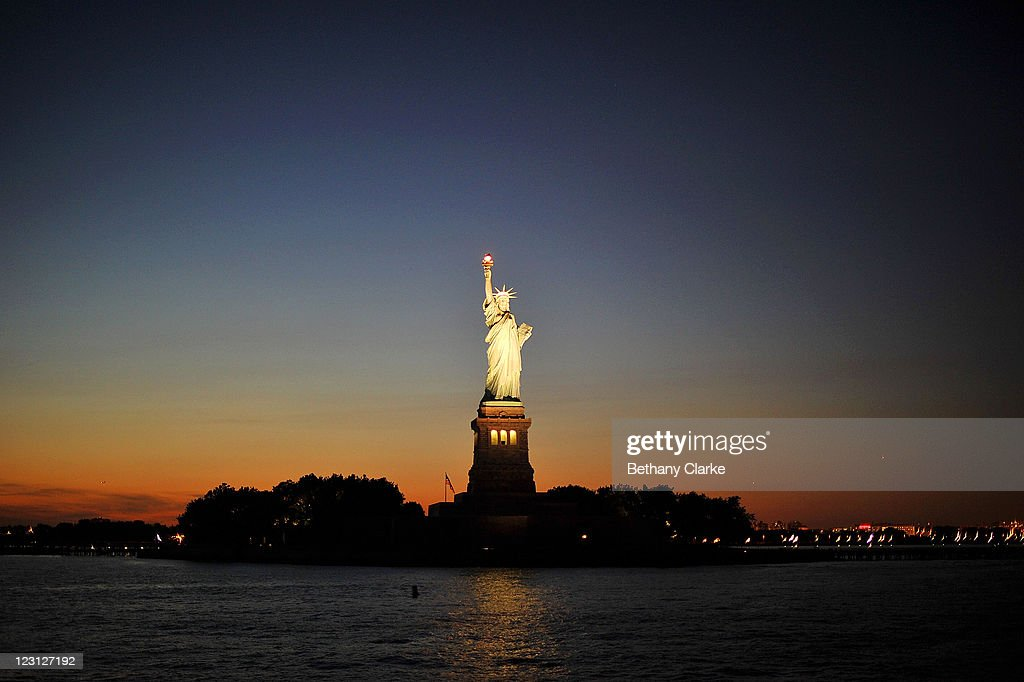 View of The Statue of Liberty on August 24, 2011 in New York. New York City, a financial, cultural and tourism centre, has the largest population of any city in the United States.