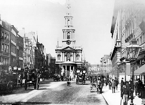 A view of the Strand in London England Circa 1890