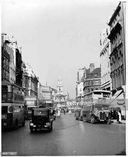 A view of the Strand in London England Circa 1930