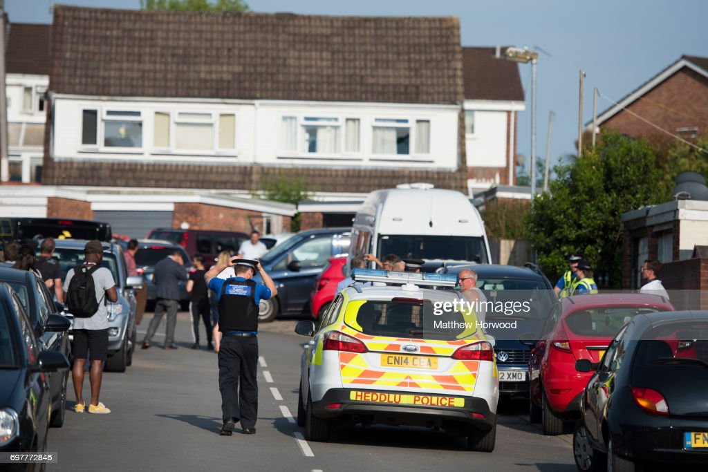 A view of the street during a search of a house on Glyn Rhosyn, Pentwyn, which is believed to be the home of Darren Osborne, who has been named as the man responsible for the Finsbury Park Mosque attack, on June 19, 2017 in Pontyclun, Wales. A van ploughed into pedestrians near Finsbury Park Mosque on Severn Sisters Road, North London, at around 12.20 this morning. Police have reported that one man was killed and nine people were injured. 47-year-old Darren Osborne has been arrested on suspicion of carrying out the attack. Prime Minister Theresa May has said police are treating it as a potential terrorist incident.