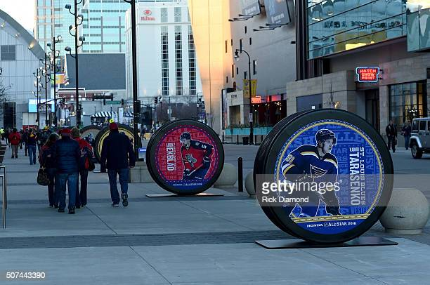 A view of the street during NHL AllStar Winter Park Nashville 2016 Day 2 on January 29 2016 in Nashville Tennessee