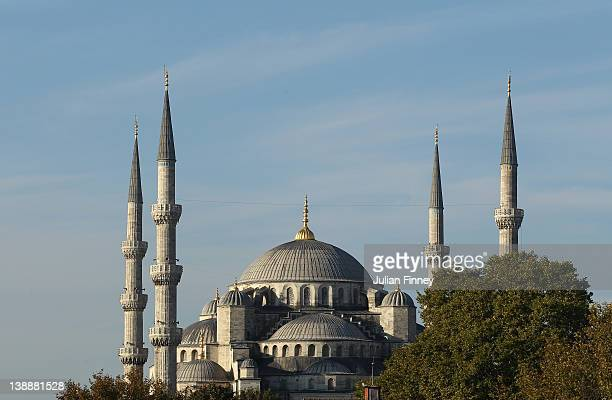 A view of the Sultanahmet Mosque on October 23 2011 in Istanbul Turkey