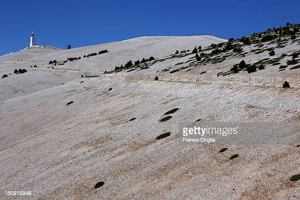 A view of the summit of Mont Ventoux on August 17 2012 in Mont Ventoux Carpentras France Mont Ventoux is a mountain in the Provence region of...