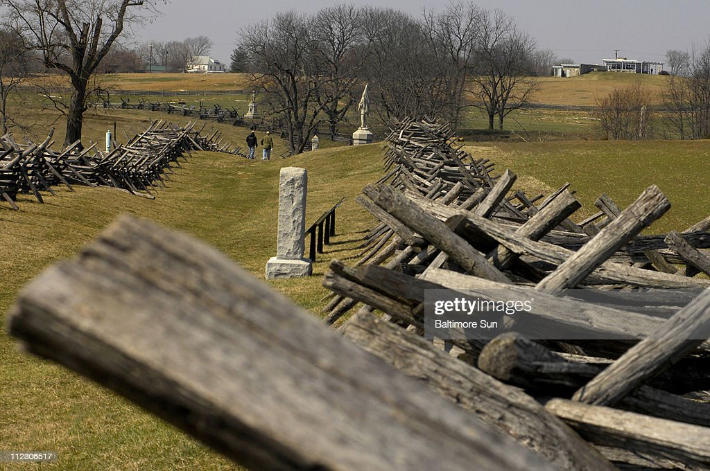 View of the Sunken Road also known as the Bloody Lane which became an open grave for hundreds of Confederate soldiers who fought at Antietam National...