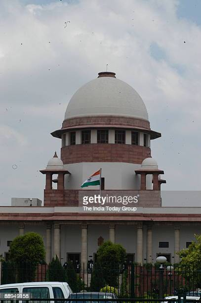 View of the Supreme Court Building in New Delhi India