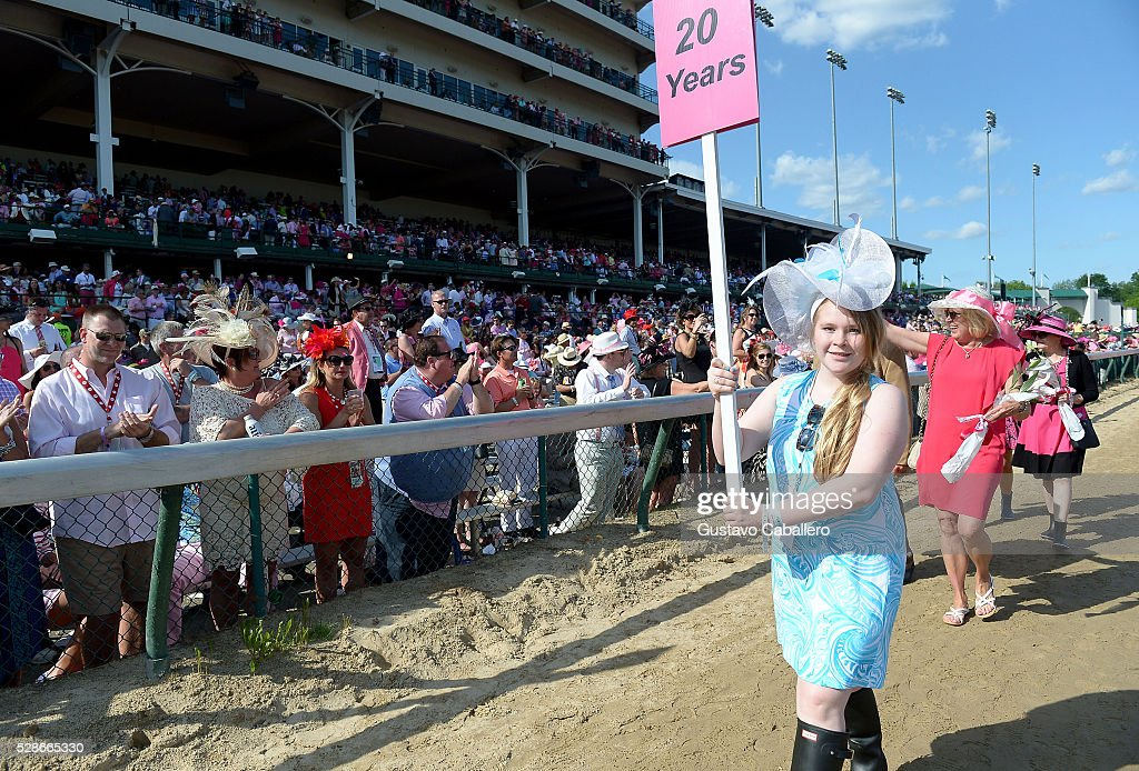 A view of the Survivor's Parade during the 2016 Kentucky Oaks at Churchill Downs on May 6, 2016 in Louisville, Kentucky.