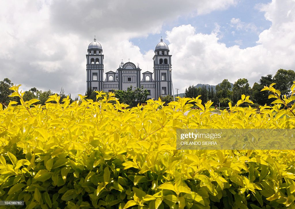 View of the Suyapa sanctuary at east of Tegucigalpa on September 20 2010 AFP PHOTO/Orlando SIERRA