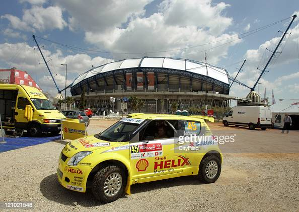 View of the Suzuki Motor Sport team during technical verifications before the 2007 World Rally Championship at the Estadio Algarve in Loule Portugal...