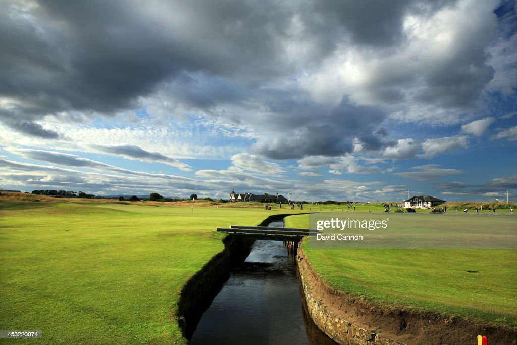 A view of the Swilcan Burn which runs in front of the green on the par 4, 1st hole on the Old Course at St Andrews venue for The Open Championship in 2015, on July 29, 2014 in St Andrews, Scotland.