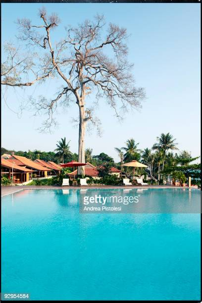 A view of the swimming pool by the sea at the Chen La Hotel on Phu Quoc Island Vietnam Phu Quoc island in the newest and more requested sea resort...