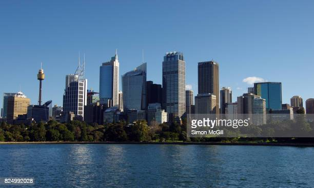 View of the Sydney central business district from The Domain, Sydney, New South Wales, Australia