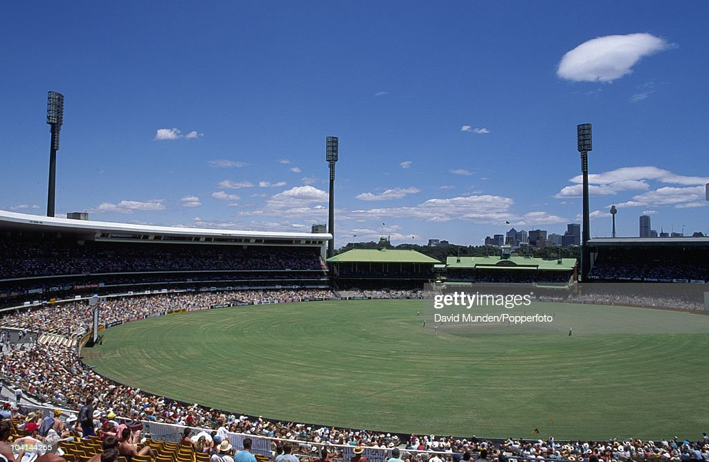A view of the Sydney Cricket Ground during the 3rd Test match between Australia and England in Sydney 4th January 1991 The match ended in a draw