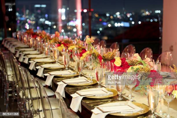 A view of the table sttings at the Capital One Celebration of the launch of the new SavorSM during A Priceless Table presented by Mastercard at The...