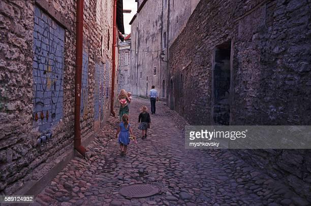 View of the Tallinn streets. Estonia