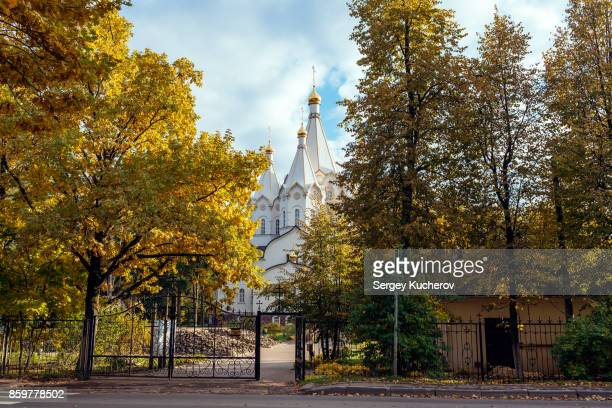 View of the Temple of the New Martyrs and Confessors of Russia in Butovo, Moscow