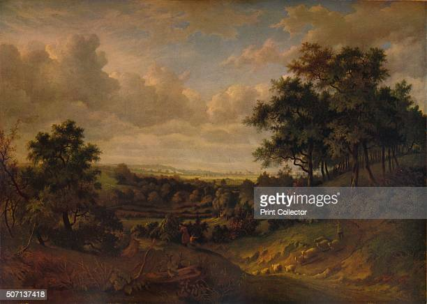 'A View of the Thames Greenwich in the distance' 1820 Painting held at The Tate London From A Catalogue of the Pictures and Drawings in the...