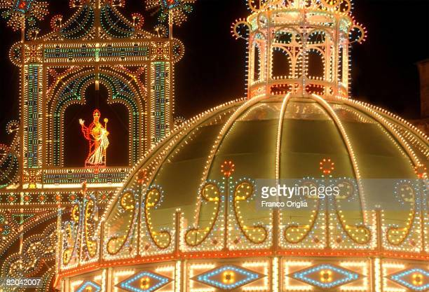 A view of the the central square of Lecce during the St Oronzo festivity on August 15 in Salento Italy Salento is that strip of land that forms the...