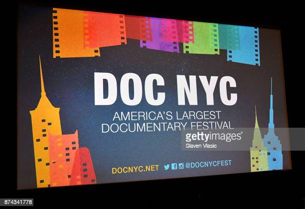 A view of the theater screen at DOC NYC Premiere of the HBO documentary film 'Traffic Stop' at IFC Center on November 14 2017 in New York City