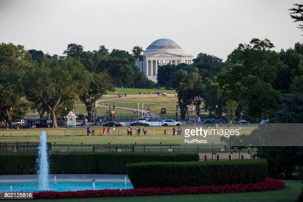 A view of the Thomas Jefferson Memorial from the South Lawn of the White House on Monday June 26 2017