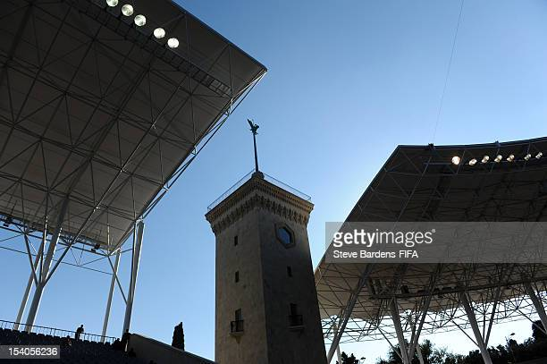 A view of the Tofig Bahramov Stadium during the FIFA U17 Women's World Cup 2012 3/4 Place Playoff Match between Ghana and Germany at the Tofig...
