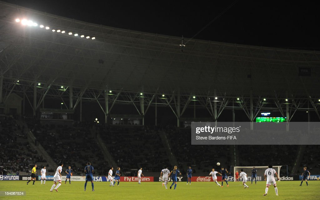 A view of the Tofig Bahramov Stadium during the FIFA U-17 Women's World Cup 2012 Final between France and Korea DPR at the Tofig Bahramov Stadium on October 13, 2012 in Baku, Azerbaijan.