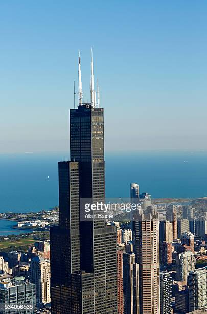 View of the top of the Willis Tower (Sears Tower)