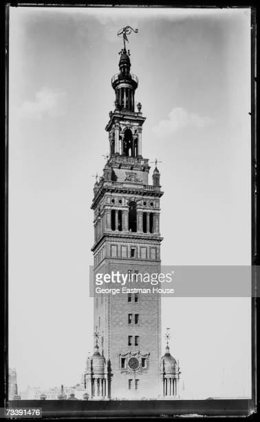 View of the tower of Madison Square Garden New York New York early 1900s The tower sat atop the second incarnation of the Garden designed by Stanford...