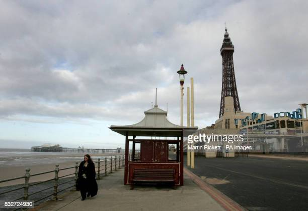 A view of the Tower the beach and the north pier in Blackpool one of the frontrunners among the seven areas shortlisted to host Britain's first...