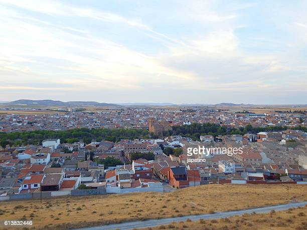 View of the town of Consuegra in the province of Toledo