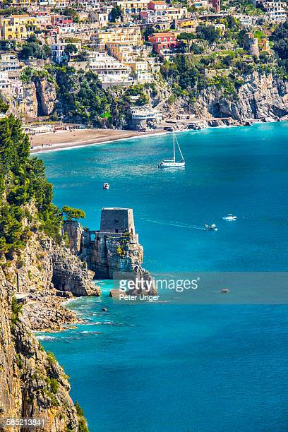 View of the town of Positano,Italy