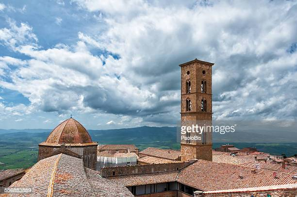View of the town of Volterra, Tuscany, Italy