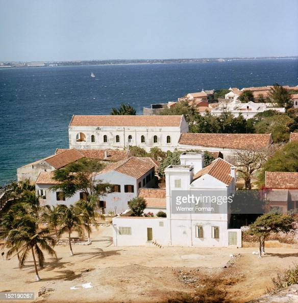 View of the town on Goree Island off Cape Verde an important sellingstation for the Atlantic slave trade Senegal Africa